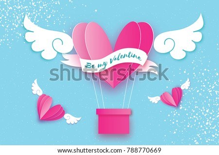 happy valentine day heart pink