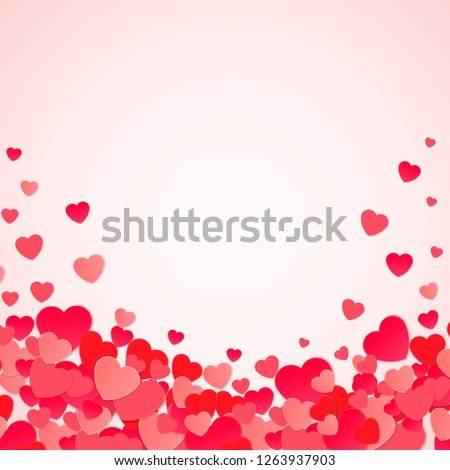 Happy Valentine's day abstract background with cut paper hearts. Vector illustration EPS10 #1263937903
