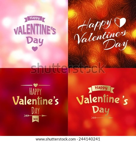 Happy Valentine's Day background (lettering design )