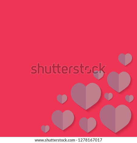 Happy Valentine's Day background- vector illustration #1278167017