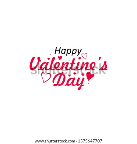 Happy valentine's day background with heart pattern and typography typographic lettering of text. Romantic love wallpaper banner. Quote, phrase and greeting. Vector illustration.