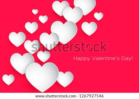 stock-vector-happy-valentine-s-day-beautiful-heart-abstract-paper-art-d-hearts-on-pink-background-valentines