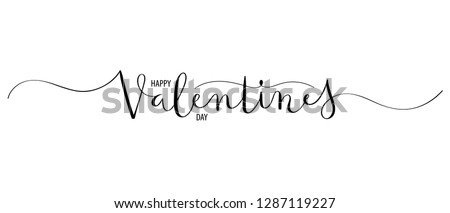 HAPPY VALENTINE'S DAY brush calligraphy banner