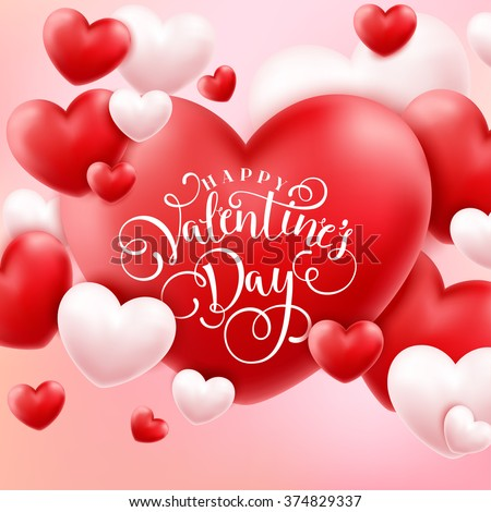 Happy Valentine Day Banners Vector Illustration For Sale Website