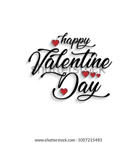 Happy Valentine's day card typographic vector