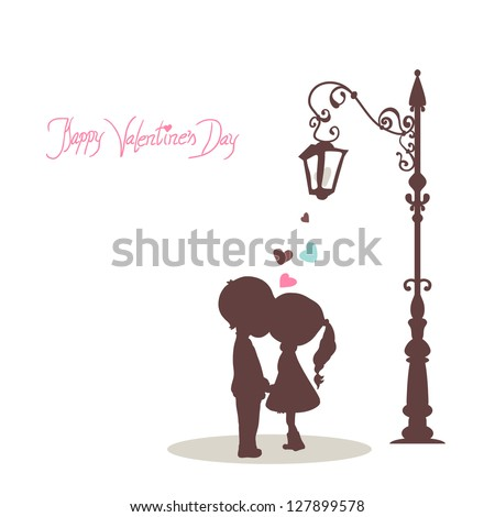 happy valentine s day card with