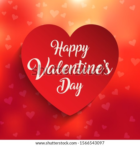 Happy Valentine's Day Design in a romantic background - vector