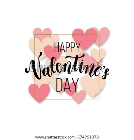 photograph regarding Happy Valentines Day Banner Printable identified as Royalty Free of charge Inventory Shots and Pics: Content Valentines working day