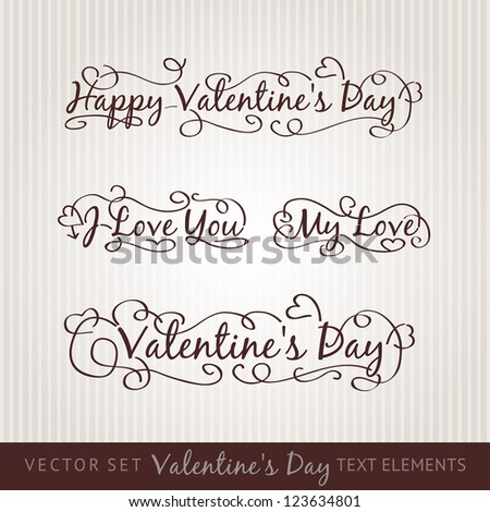 Happy valentine's day hand lettering. Scalable and editable vector illustration.