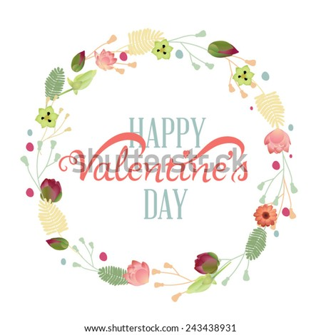 Happy Valentine's Day Hand Lettering - Typographical Background #243438931