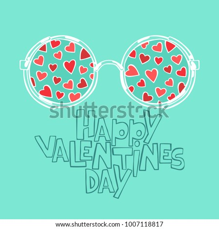 Happy Valentine's Day. Hearts. Isolated vector object on white background.
