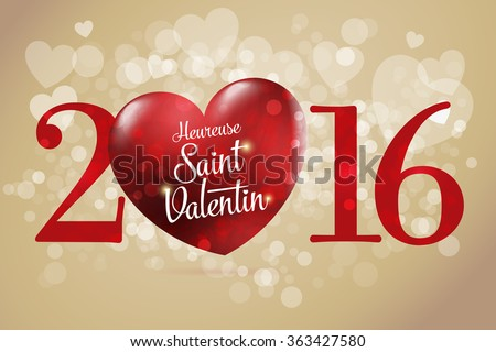 Saint valentine labels download free vector art stock graphics happy valentines day lettering card french heureuse saint valentin red heart vector altavistaventures Image collections