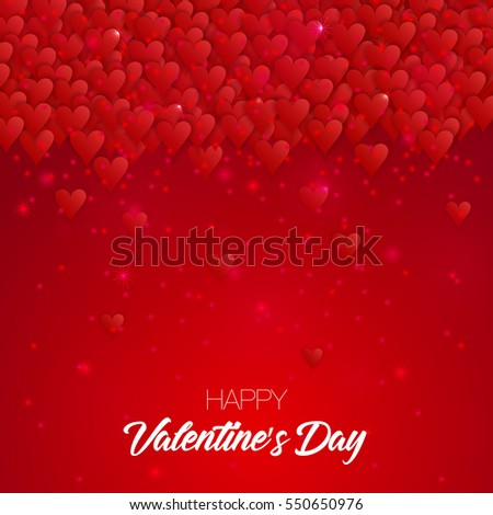 Happy Valentine's day lettering card. Vector illustration.