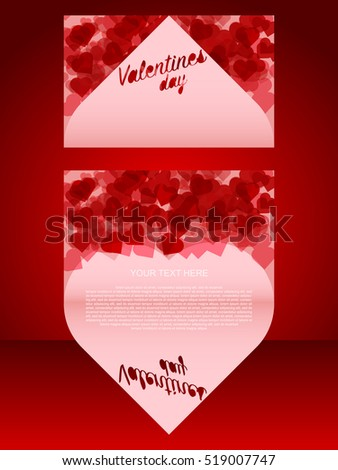Happy Valentine's Day lettering Greeting Card on red background, vector illustration. Valentine's Day. Valentine's Day. Valentine's Day. Valentine's Day. Valentine's Day. Valentine's Day.