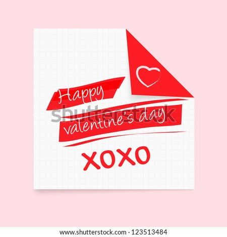 Happy Valentine's Day notepad