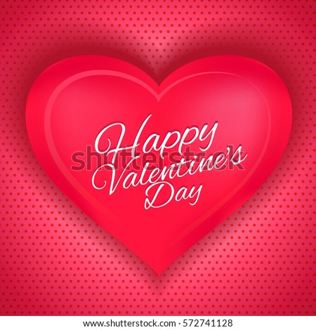 happy valentine's day pink love illustration vector  #572741128