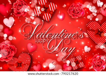 Beautiful Red Valentine S Day Sale Background Illustration