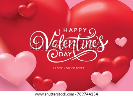 3d red hearts background with sparkles for valentine\'s day ...