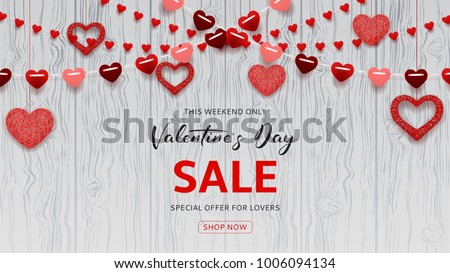 happy valentine's day sale web