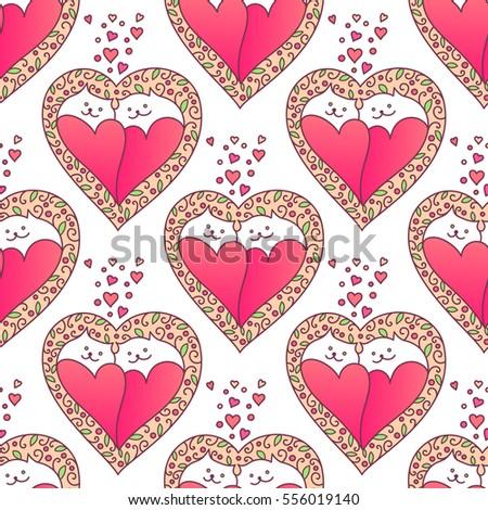 happy valentine's day seamless