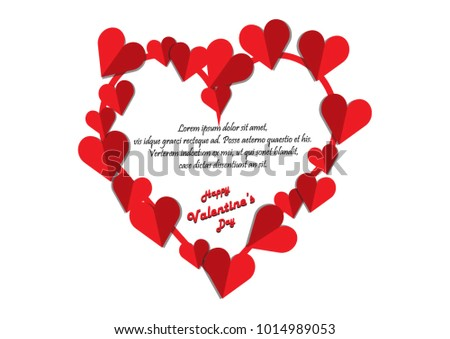 Happy Valentine S Day Card Template Download Free Vector Art
