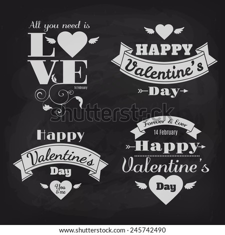 Happy Valentine's Day vector card  #245742490