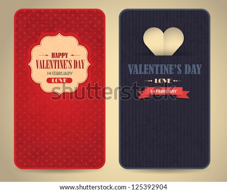 Happy Valentine's Day Vector Design - stock vector