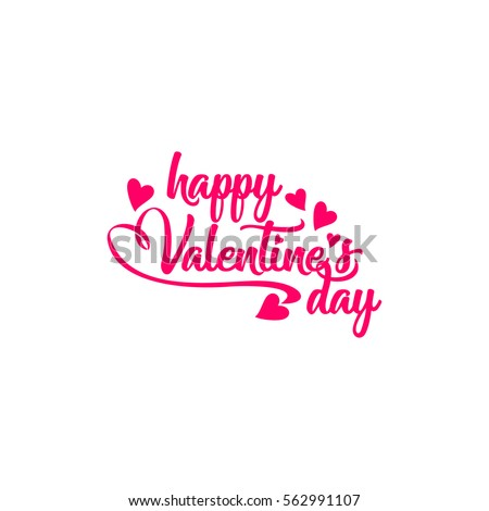 Happy Valentine's day vector element #562991107