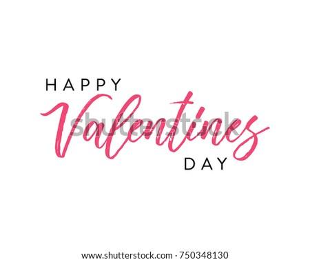 Happy Valentine's Day Vector Text Illustration Background  #750348130