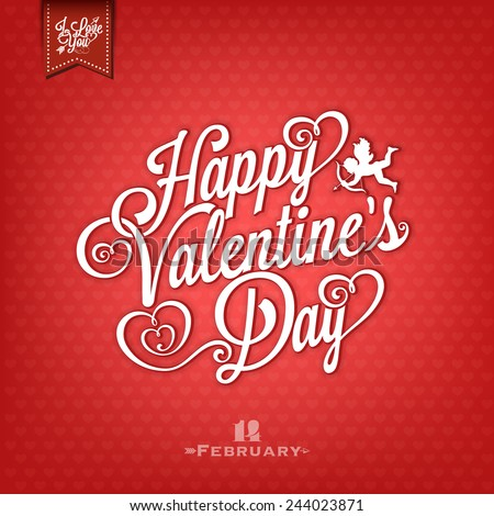Happy Valentine\'s Day Vintage Hand Drawing Background With Hearts