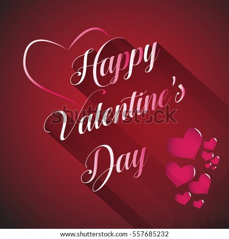 happy valentine's day with long sadow #557685232