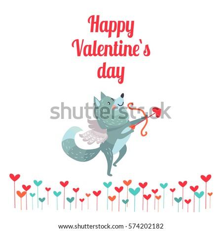 happy valentine's day wolf