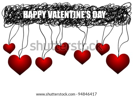 Happy Valentine's Greeting Card (or Banner) illustration (ideal for sale,promotion,discount works)