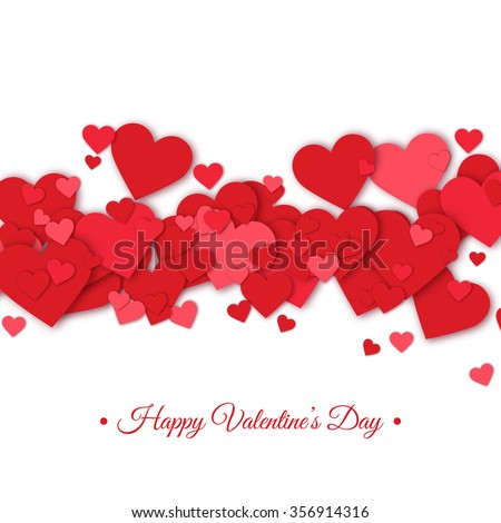 Happy valentines day and weeding design elements. Vector illustration. Typographical white Background With Ornaments, Hearts, Ribbon and Arrow. Doodles and curls.