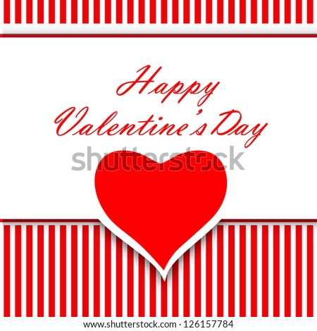 Happy Valentines Day background, greeting card or gift card, love concept. EPS 10. - stock vector