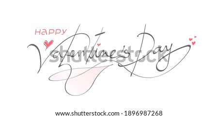 Happy Valentines day background with heart pattern and typography of happy valentines day script text . Vector illustration. Wallpaper, flyers, invitation, posters, brochure, banners.