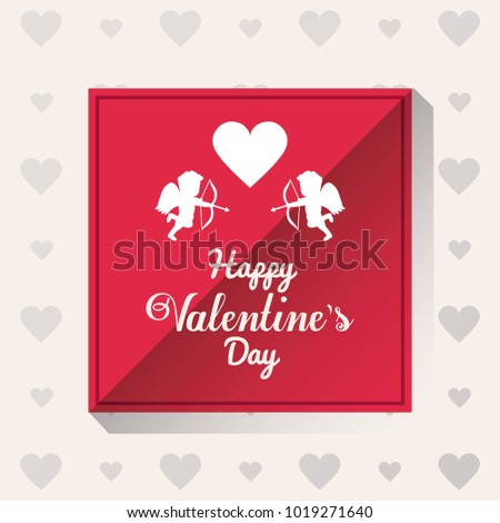 Happy valentines day card #1019271640