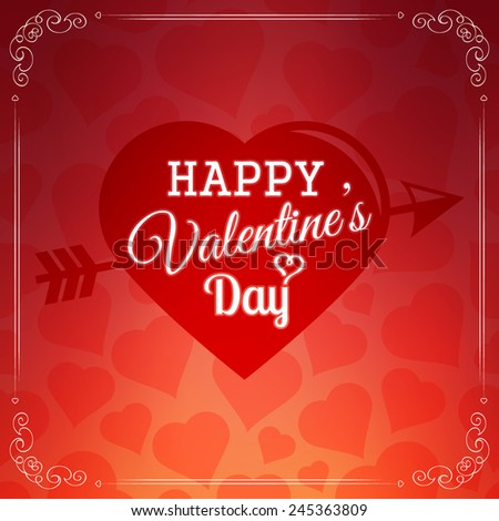 happy valentines day card. hearts background. vector illustration #245363809