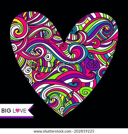 Happy valentines day card. Vector EPS 8 illustration Zdjęcia stock ©