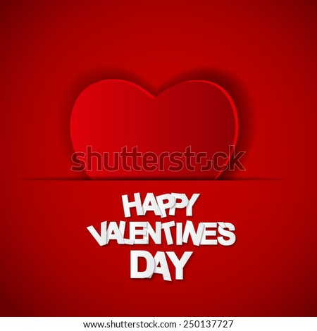 Happy Valentines Day Card. Vector Illustration  #250137727