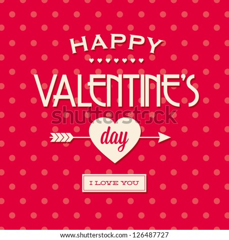 happy valentines day cards with ornaments, hearts, ribbon, and arrow. Valentine background.