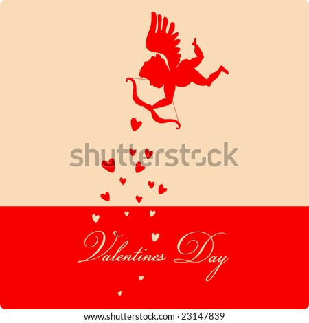 happy Valentines day - greeting card - stock vector