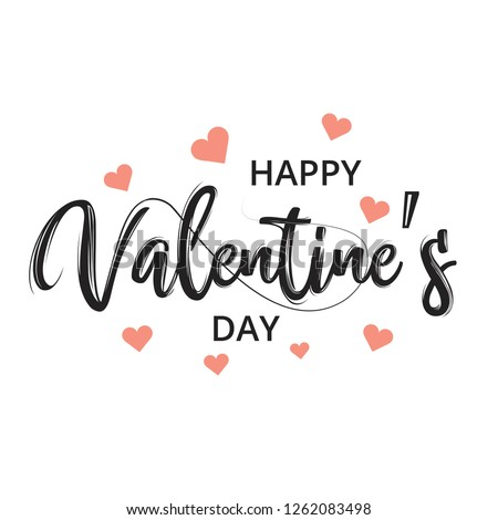 Happy Valentines day greeting card, vector illustration. Beautiful love. - Vector #1262083498
