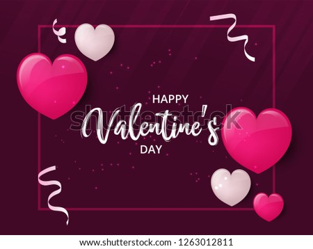 Happy Valentines day greeting card, vector illustration. Beautiful love. - Vector #1263012811