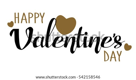 happy valentines day hand drawing lettering card design