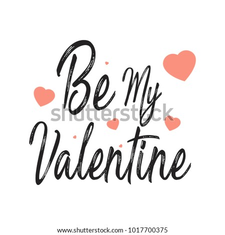 Happy Valentines Day Hand Drawing Lettering design. Vector illustration #1017700375