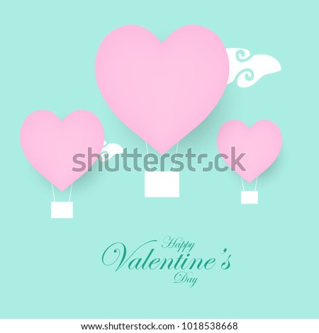 Happy Valentines Day Hand Drawing Lettering design. Vector illustration #1018538668