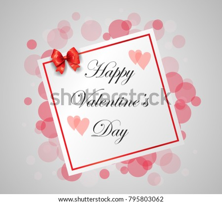 Happy Valentines Day Hand Drawing Lettering design. Vector illustration #795803062