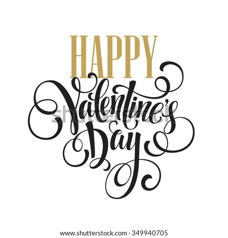 Happy Valentines Day Hand Drawing Lettering design. Vector illustration EPS10