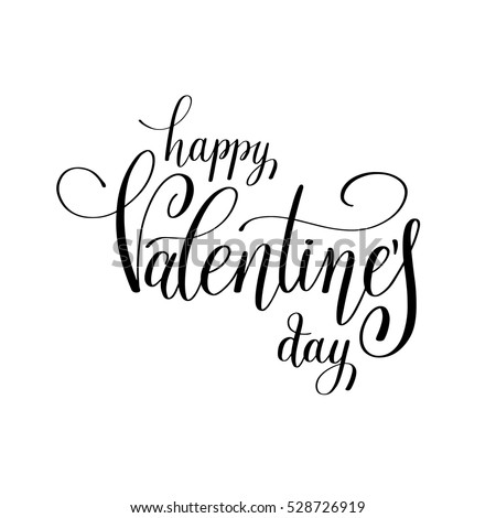happy valentines day handwritten lettering holiday design to greeting card poster congratulate calligraphy